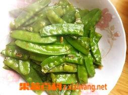 果蔬百科素炒豌豆